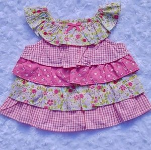 *B2G1* Gymboree Ruffle Tiered Floral Top Snails